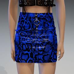 Plastic Snake Skirt in Blue