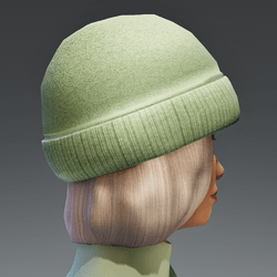 Winter Cap with Color change Cap - blond FEMALE