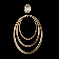 sunrise earrings gold
