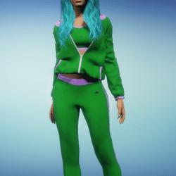 Forest Green n Violet Jogging Suit