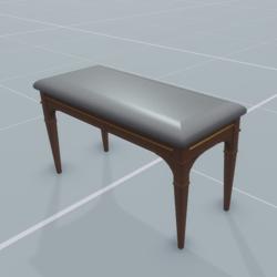 Piano's bench