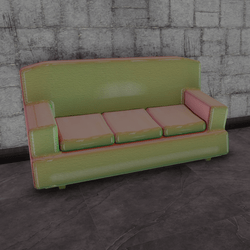 Cafe couch - holo B (3 seats)