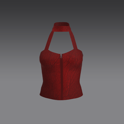 Serena Halter Top - Red (MsAquaria)