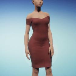 Knitted Cold Shoulder Dress