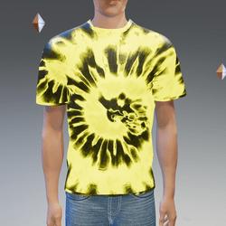 Yellow Glowing Tie-Dye T-Shirt - Male