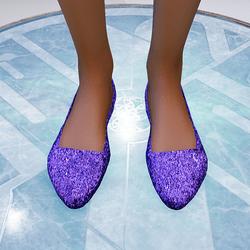 Violet glitter flats