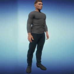 Blue Black Jean Pants