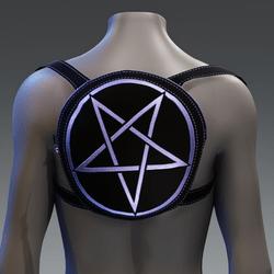 Metallic Pentagram Backpack [Purple]