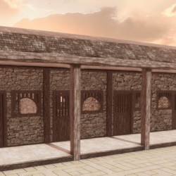 HORSE STABLE MEDIEVAL