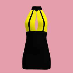 80's Bi-Colour Day-Glow Dress 03
