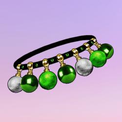 Ornaments Choker Green Silver