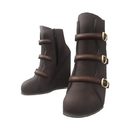 "Wedge boots for ""Alina Daisy"" and ""Nicci"" avatar - chocolate"