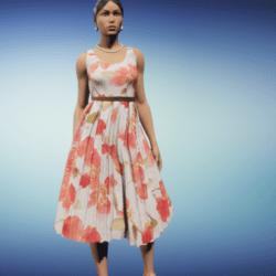 50's poppy print dress