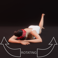 modelpose liegend 04 rotating