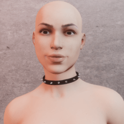 Necklace collar with studs
