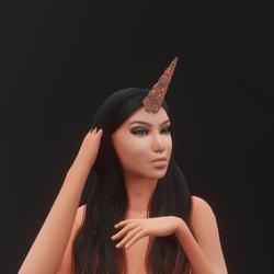 Lava Unicorn Horn