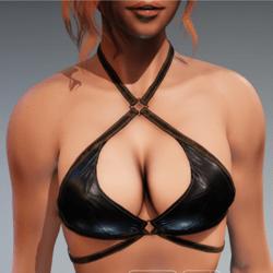 Carol Bikini Top for Kismet Body (3A or 3B) by Apocalypse Bunnies (worn leather)
