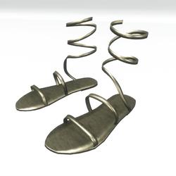 Ancient greek sandals  - gold