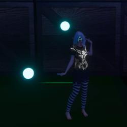 Blue Glowing Poi