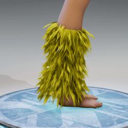 GoGo Dancer Furry Legwarmers YELLOW
