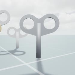 Animated clockwork key set