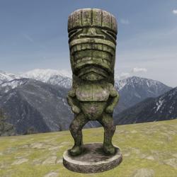 TKA GD Tiki Statue Stone