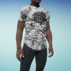 Flower Of Life Fitted T BW