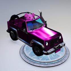Pink Teddy Car