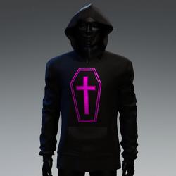 Unisex Coffin Cross Hoodie [Pink]