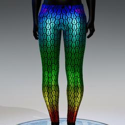 Coffin Cross Metallic Skinny Jeans [Rainbow]