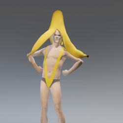 mankini yellow