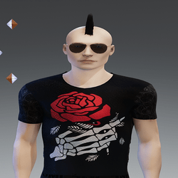 {INTOXICATED} Mens punk red rose shirt