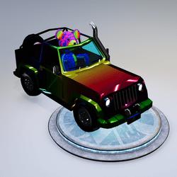 Rainbow Teddy Car
