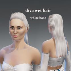 diva wet hair -white base