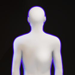 Blue Glowing Aura M