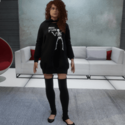 Halloween Dress - Skelly