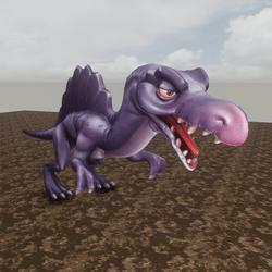 Moving Spinosaurus Lock Behind
