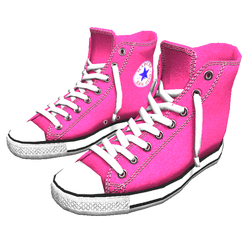 Girl shoes San-Star sneakers high pink for woman