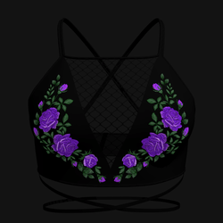 Taradelle Rose Blouse (Purple)