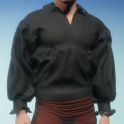 Poet Shirt in Charcoal Linen