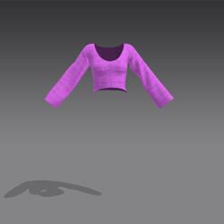 Rose Shirt - Purple (MsAquaria)