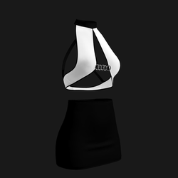Leera Clubbing Outfit (Black/White)
