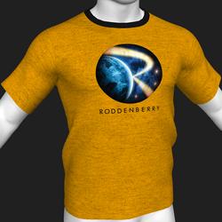 Star Trek Mission Log - Roddenberry T-Shirt - Yellow - Male