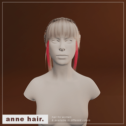Anne Hair (F/Glowing Magenta Strand)