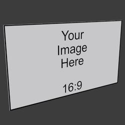 16x9 Frameless Iamge Panel