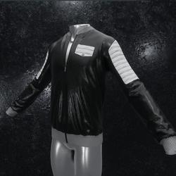 Leather Jacket Ron black white