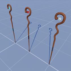 3 Sceptres cast magic