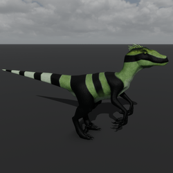 Raptor Avatar - Smooth Green Gecko
