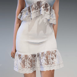 Lace Summer Skirt in White