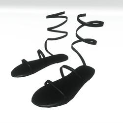 Ancient greek sandals - black